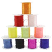 Kristall Faden, mit Kunststoffspule, elastisch, gemischte Farben, 0.6mm, 25PCs/Tasche, ca. 10m/PC, verkauft von Tasche