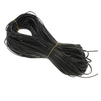 PU Leder Schnur, schwarz, 2.1x0.7mm, ca. 100m/PC, verkauft von PC