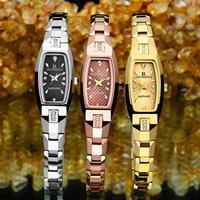ONTHEEDGE®-Frauen-Schmuck-Uhren, Wolfram Stahl, mit Glas, plattiert, für Frau & wasserdicht & mit Strass, keine, 15x28x7mm, 7.5mm, Länge:ca. 7.8 ZollInch, verkauft von PC