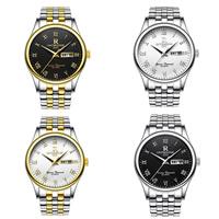 ONTHEEDGE®-Männer-Schmuck-Uhren, 316 L Edelstahl, mit Glas, plattiert, 30 m wasserdicht & für den Menschen, keine, 38x9mm, 18mm, Länge:ca. 9 ZollInch, verkauft von PC