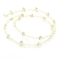 Braut Haarband, Zinklegierung, mit ABS-Kunststoff-Perlen, goldfarben plattiert, für Braut & mit Strass, frei von Blei & Kadmium, 120-140mm, verkauft von PC