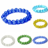 Cats Eye Armbänder, Katzenauge, rund, natürlich, Weitere Größen für Wahl & für Frau, keine, verkauft per ca. 6.5 ZollInch Strang