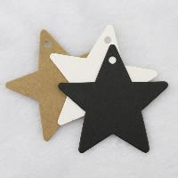Kraftpapier Label- Tag, Stern, keine, 60x60mm, 100PCs/Menge, verkauft von Menge