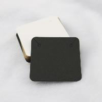 Kraftpapier Schmuck-Set-Grafikkarte, Ohrring & Halskette, Quadrat, keine, 50x50mm, 100PCs/Menge, verkauft von Menge