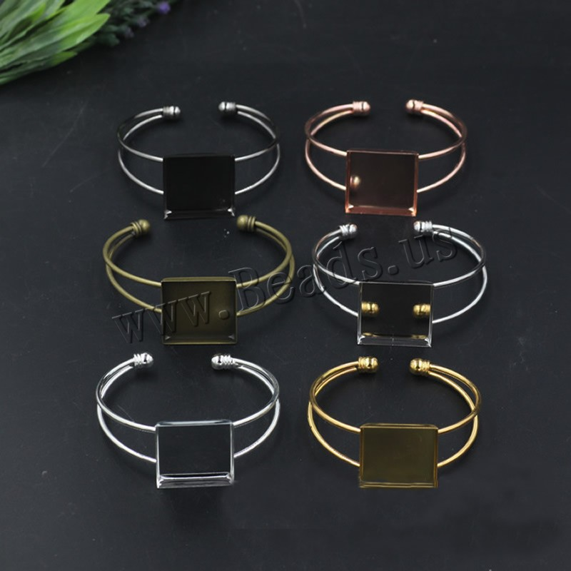 Buy Brass Bangle Cuff Findings Square plated colors choice nickel lead & cadmium free 65x60mm Inner Diameter:Approx 25 65mm 5PCs/Bag Sold Bag