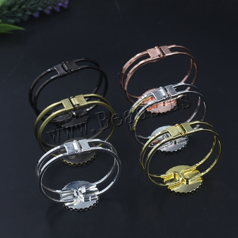 Brass Bracelet & Bangle Flat Round plated colors choice nickel lead & cadmium free 65x60mm Inner Diameter:Approx 25 65mm 5PCs/Bag Sold Bag