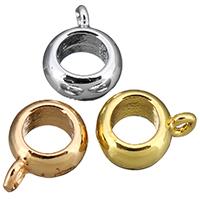 Messing Stiftöse Perlen, Kreisring, plattiert, keine, frei von Nickel, Blei & Kadmium, 8x11x4mm, Bohrung:ca. 5mm, 100PCs/Menge, verkauft von Menge