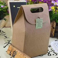 Mode Geschenkbeutel, Kraftpapier, 100x60x155mm, 10PCs/Tasche, verkauft von Tasche