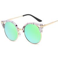Art- und WeiseSonnenbrillen , PC Kunststoff, mit PC Kunststofflinse & Harz & Zinklegierung, goldfarben plattiert, unisex, keine, 143x49x138mm, verkauft von PC