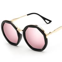 Art- und WeiseSonnenbrillen , PC Kunststoff, mit PC Kunststofflinse & Zinklegierung, goldfarben plattiert, unisex, keine, 148x55x145mm, verkauft von PC
