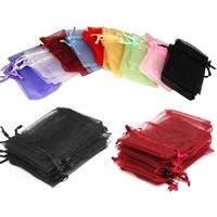 Schmuck Kordelzugbeutel, Organza, Rechteck, verschiedene Größen vorhanden, keine, 100PCs/Tasche, verkauft von Tasche