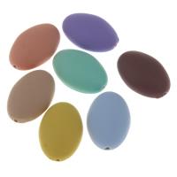 Volltonfarbe Acryl Perlen, oval, gummierte, keine, 19x29x10mm, Bohrung:ca. 2mm, 500PCs/Tasche, verkauft von Tasche