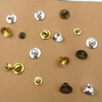 Messing Ösenknöpfe, plattiert, olika innerdiameter, för val, keine, frei von Nickel, Blei & Kadmium, 4-6mm, Bohrung:ca. 2mm, 500PCs/Tasche, verkauft von Tasche