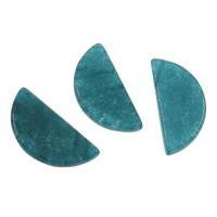 Blauer Aventurin Perle, Dom, kein Loch, 12x25x3mm, 5PCs/Tasche, verkauft von Tasche