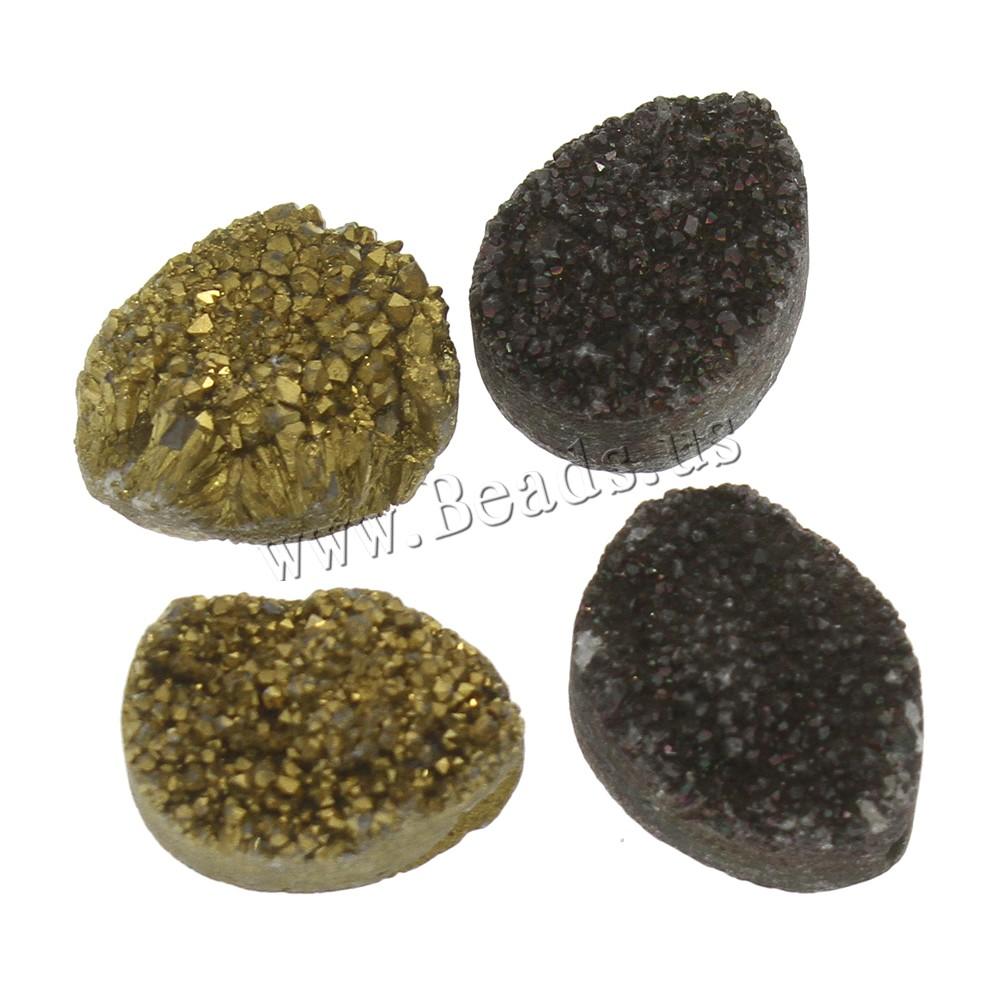 Buy Natural Ice Quartz Agate Beads druzy style & hole colors choice 15x20x8-17x22x9mm 5PCs/Bag Sold Bag