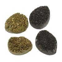 Natürliche Eis Quarz Achat Perlen, Eisquarz Achat, druzy Stil & kein Loch, keine, 15x20x8-17x22x9mm, 5PCs/Tasche, verkauft von Tasche