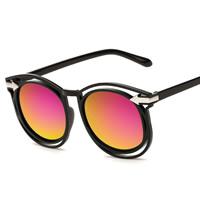 Art- und WeiseSonnenbrillen , PC Kunststoff, mit PC Kunststofflinse & Zinklegierung, Platinfarbe platiniert, unisex, keine, 140x48x148mm, verkauft von PC
