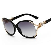 Art- und WeiseSonnenbrillen , PC Kunststoff, mit PC Kunststofflinse & Kristall & Zinklegierung, goldfarben plattiert, unisex, keine, 142x50x142mm, verkauft von PC