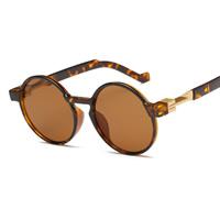 Art- und WeiseSonnenbrillen , PC Kunststoff, mit PC Kunststofflinse & Zinklegierung, flache Runde, goldfarben plattiert, unisex, keine, 140x52x150mm, verkauft von PC