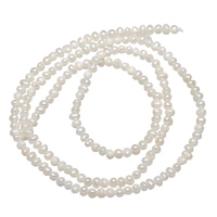 Natürliche Süßwasser, lose Perlen, Natürliche kultivierte Süßwasserperlen, weiß, 2.1mm, Bohrung:ca. 0.8mm, verkauft per ca. 15 ZollInch Strang