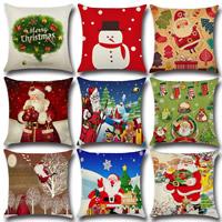 Kissenbezug, Baumwollgewebe, Quadrat, Weihnachtsschmuck & verschiedene Muster für Wahl, 450x450mm, verkauft von PC