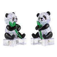 Kunststoff Ziegelstein-Spielzeug, Panda, LED, 75x110mm, 3PCs/Tasche, verkauft von Tasche
