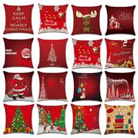 Kissenbezug, Baumwollgewebe, Quadrat, Wort Frohe Weihnachten, Weihnachtsschmuck & verschiedene Muster für Wahl, 450x450mm, verkauft von PC