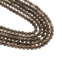 Natürliche Rauchquarz Perlen, rund, verschiedene Größen vorhanden, Bohrung:ca. 1mm, verkauft von Strang