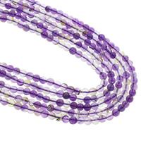 Natürliche Amethyst Perlen, rund, Februar Birthstone, violett, 6mm, Bohrung:ca. 1mm, ca. 63PCs/Strang, verkauft per ca. 14.5 ZollInch Strang