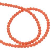 gefärbter Marmor Perle, rund, Rosa, 4mm, Bohrung:ca. 1mm, ca. 95PCs/Strang, verkauft per ca. 14.5 ZollInch Strang