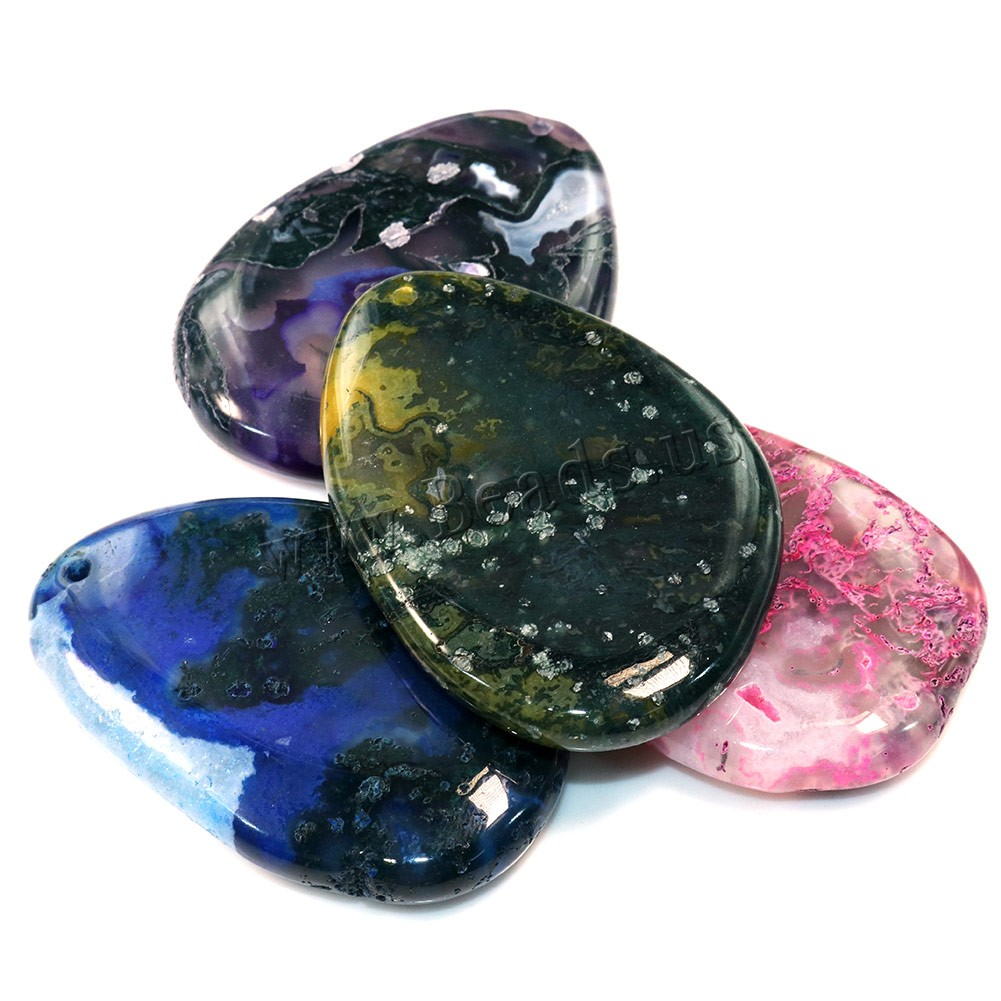 Buy Agate Jewelry Pendants natural & mixed 40-44x55-62x9-10mm Hole:Approx 2mm Sold Lot