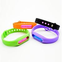 Silikon Mückenschutz Armband, für Kinder, gemischte Farben, Länge:ca. 6-10 ZollInch, 5SträngeStrang/Menge, verkauft von Menge