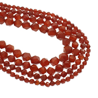 Natürlich rote Achat Perlen, Roter Achat, verschiedene Größen vorhanden, verkauft per ca. 15.5 ZollInch Strang