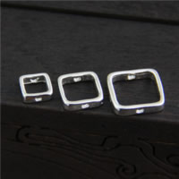 Sterling Silber Armband Befunde, 925 Sterling Silber, Quadrat, verschiedene Größen vorhanden, Bohrung:ca. 1mm, verkauft von Menge