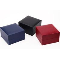 Uhr Schmuckkasten, PU Leder, mit Baumwollsamt & Baumwolle, Quadrat, keine, 100x100x60mm, 50PCs/Menge, verkauft von Menge