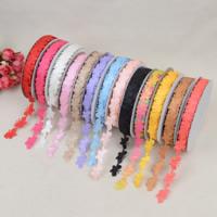 Terylen Band, Polyester, Schmetterling, einzelseitig, gemischte Farben, 15mm, 10PCs/Menge, 20WerftenHof/PC, verkauft von Menge
