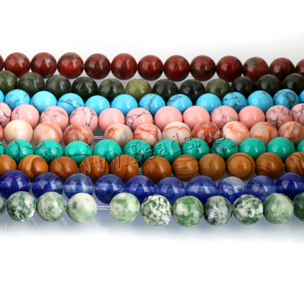 Buy Gemstone Jewelry Beads Round different materials choice 10mm Hole:Approx 1mm Approx 38PCs/Strand Sold Per Approx 15 Inch Strand