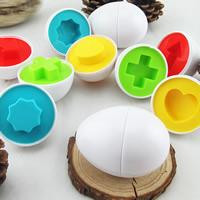 Babyspielzeug lernen, Kunststoff, gemischte Farben, 65x45mm, 6PCs/Tasche, verkauft von Tasche