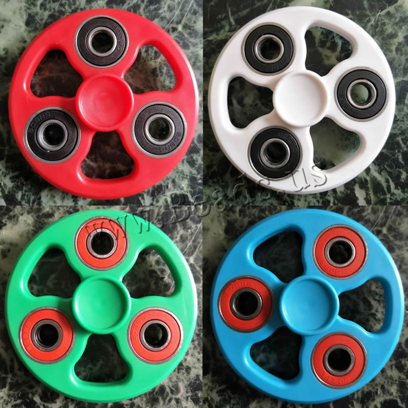 Buy Finger Hand Fidget Spinner Gyroscope Toys Plastic Zinc Alloy Flat Round colors choice 60-75mm 3PCs/Bag Sold Bag