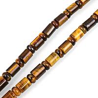 Tigerauge Perlen, natürliche, 10x8mm, 5x8mm, Bohrung:ca. 1mm, Länge:ca. 16 ZollInch, 3SträngeStrang/Menge, ca. 55PCs/Strang, verkauft von Menge