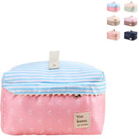 Kosmetische Aufbewahrungsbeutel, Oxford, mit Baumwolle, mit Brief Muster & wasserdicht, keine, 25x20x15cm, verkauft von PC