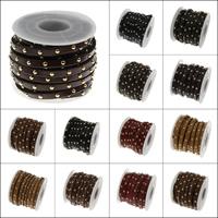 PU Leder Schnur, mit Kunststoffspule & Zinklegierung, keine, 5x3mm, 5HofHof/Spule, verkauft von Spule