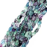 Buntes Fluorit Perle, Klumpen, natürlich, verschiedene Größen vorhanden, Bohrung:ca. 0.5-1mm, verkauft per ca. 16 ZollInch Strang