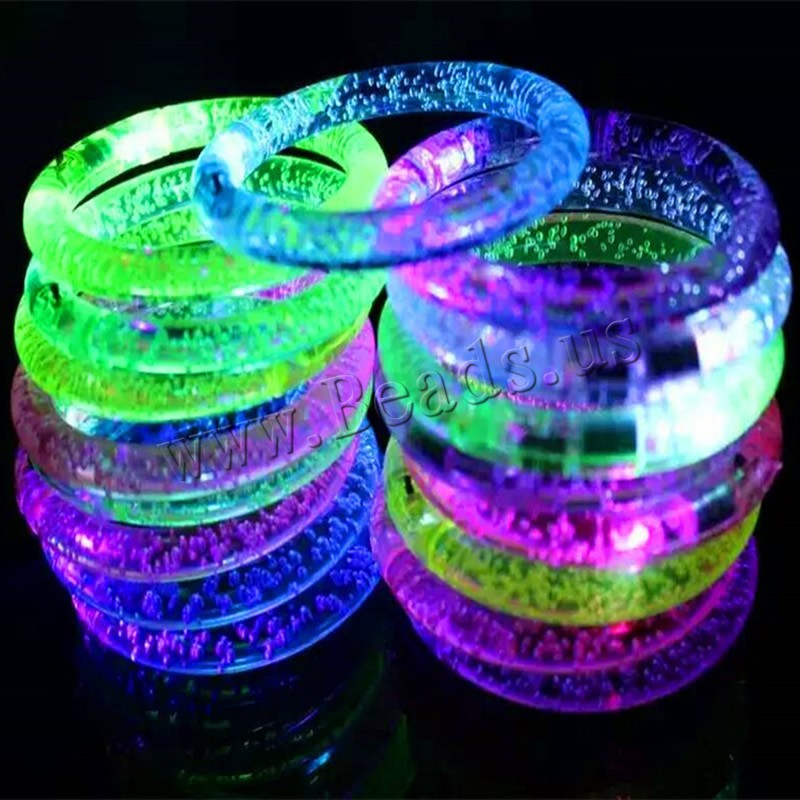 Buy Light-Up Toys Plastic Donut children & LED mixed colors 85x10mm Inner Diameter:Approx 60mm Length:Approx 7 Inch 6PCs/Bag Sold Bag
