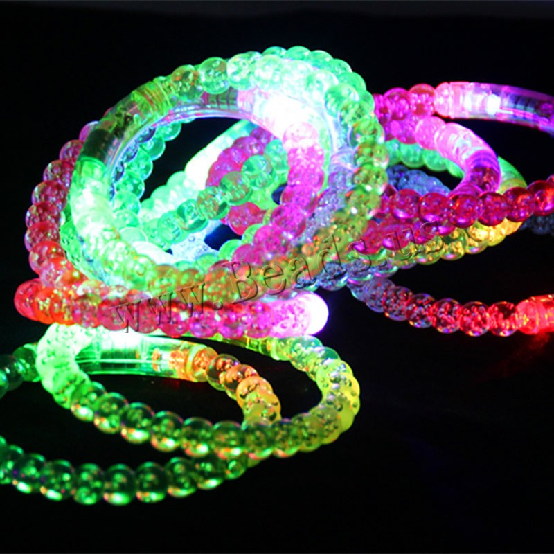 Buy Light-Up Toys Plastic Donut children & LED mixed colors 85mm Inner Diameter:Approx 65mm Length:Approx 8 Inch 6PCs/Bag Sold Bag