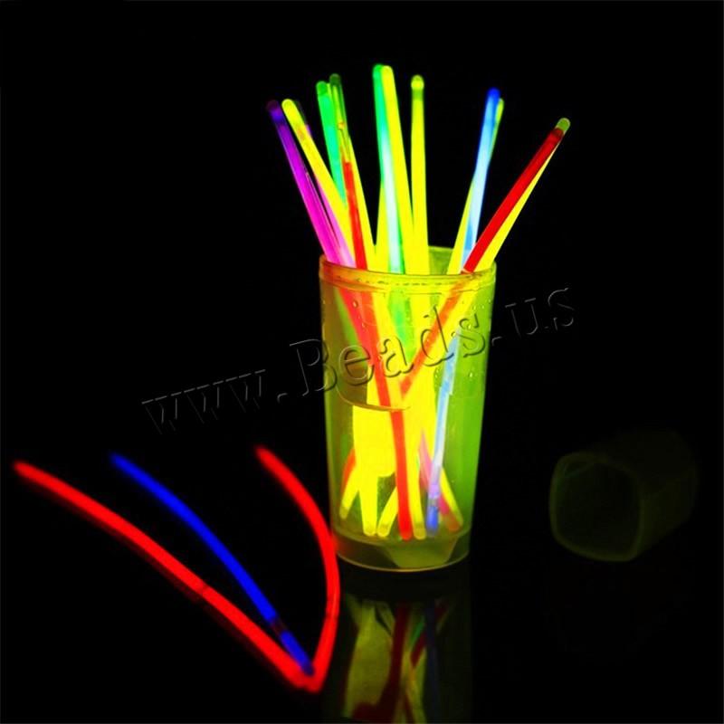 Plastic Glow Stick children & fluorescent mixed colors 200x5mm 50PCs/Bag Sold Bag