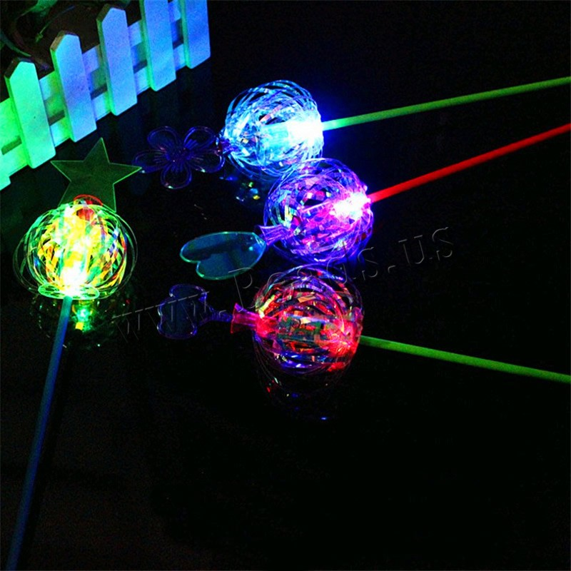 Light-Up Toys Plastic children & LED mixed colors 38mm 3PCs/Bag Sold Bag