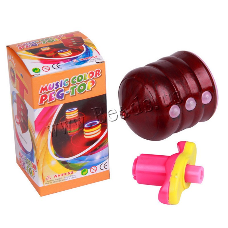 Buy Plastic Peg-Top Toy Due battery can sent airmail & children & LED mixed colors 80x60mm 3PCs/Bag Sold Bag