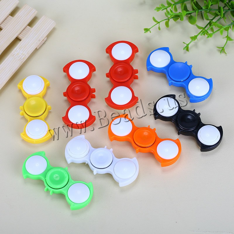 Buy Finger Hand Fidget Spinner Gyroscope Toys ABS Plastic Due battery can sent airmail & LED colors choice 78x25mm 1 Sold Lot