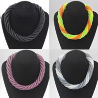 Mesh Stardust Halskette, Zinklegierung, mit Kunststoff Netz & Harz Strass, Platinfarbe platiniert, für Frau, keine, frei von Nickel, Blei & Kadmium, verkauft per ca. 18 ZollInch Strang